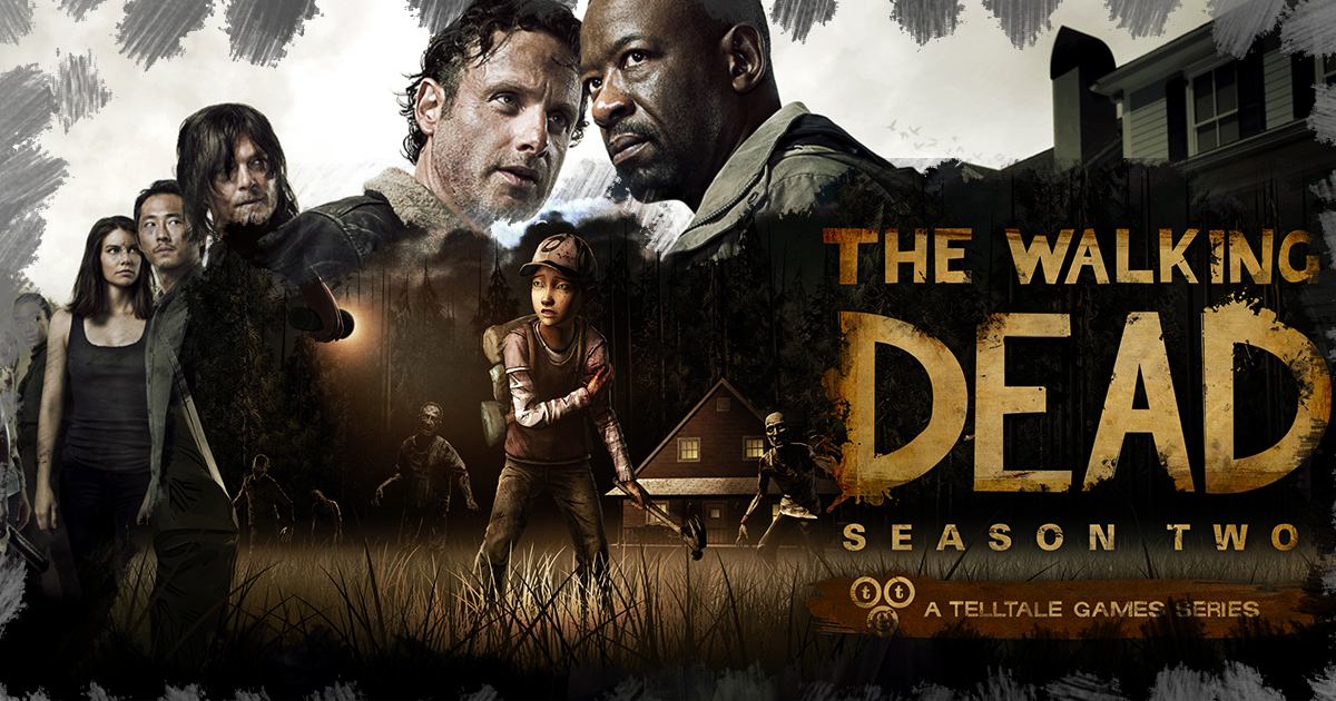 Composite of promo for Walking Dead show and video game