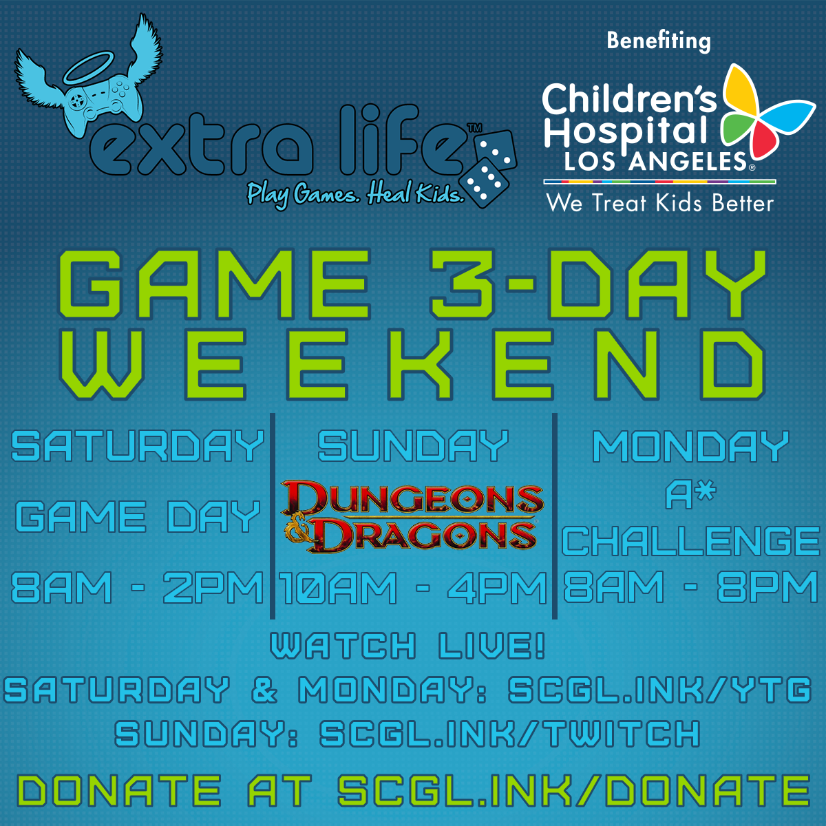 Extra Life Schedule